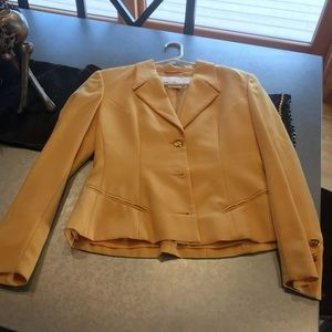 Cropped yellow Escada Jacket.